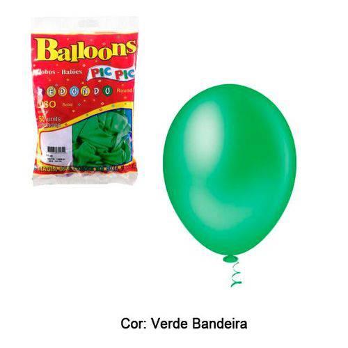 Balao N7 Verde Bandeira com 50 Unidades Pic Pic