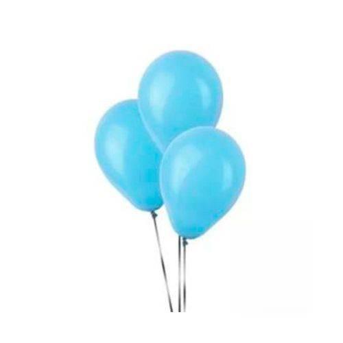 Balão N9 Redondo Azul Claro com 50 Unidades Pic Pic