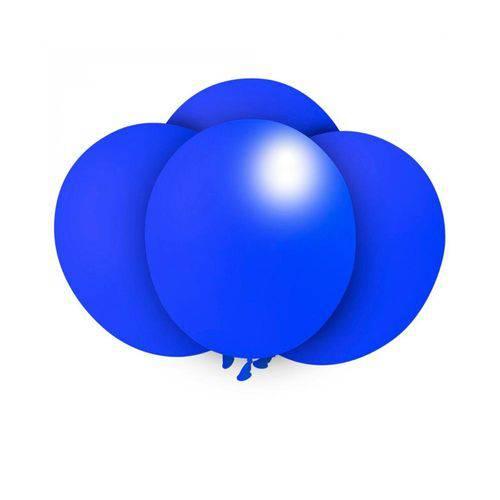 Balão N9 Redondo Azul Royal com 50 Unidades Pic Pic
