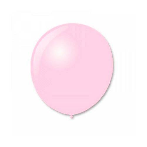Balao N9 Redondo Rosa Baby com 50 Unidades Pic Pic