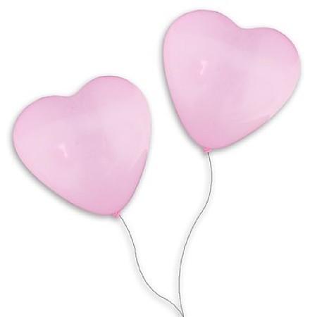 Balão Pic Pic Coração N.6 Rosa - 50 Unidades
