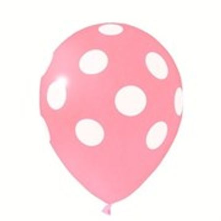 Balão Pic Pic N.10 Rosa Poá Branco - 25 Unidades