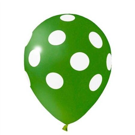 Balão Pic Pic N.10 Verde Poá Branco - 25 Unidades