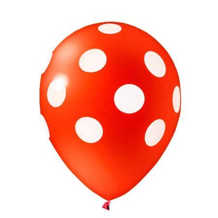 Balão Pic Pic N.10 Vermelho Poá Branco - 25 Unidades