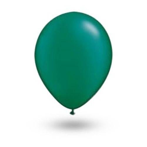 Balão Pic Pic Nº 9 Verde Escuro Redondo - 50 Und