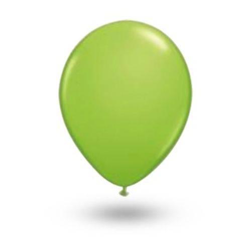 Balão Pic Pic Nº 9 Verde Limão Redondo - 50 Und