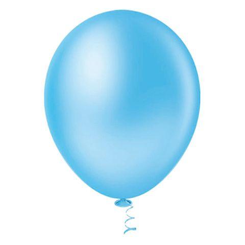 Balão Liso Azul Claro Tamanho 7 C/50 - Pic Pic