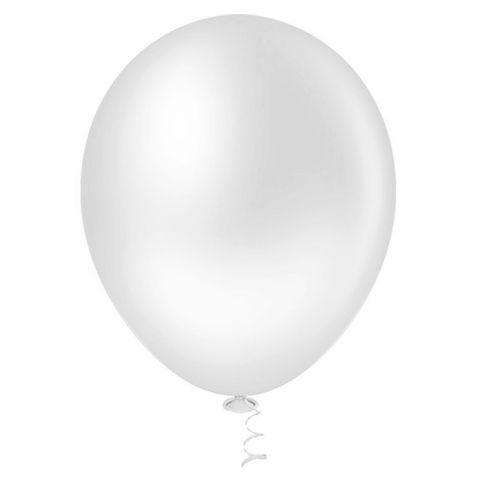 Balão Liso Branco Tamanho 7 C/50 - Pic Pic
