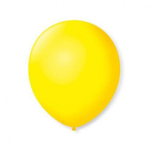 Balao S.roque 7 Liso Amarelo Citrin C/50 Pacote C/ 50 Unds