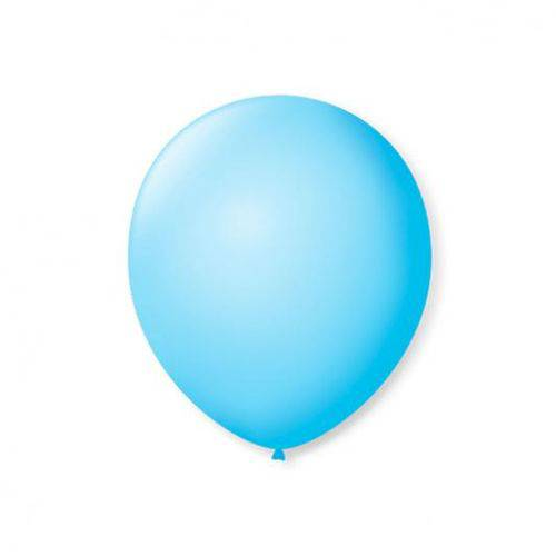 Balao S.roque 7 Liso Azul Baby C/50 Pacote C/ 50 Unds