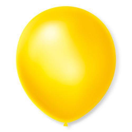 Balão São Roque Cintilante N°7 C/50 Amarelo