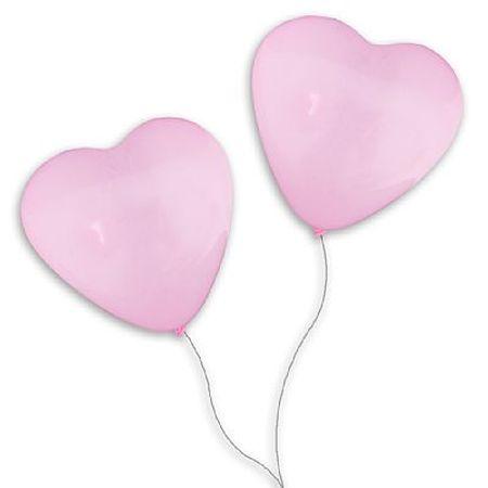 Balão São Roque Coração N.6 Rosa - 50 Unidades