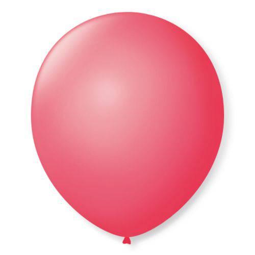 Balão São Roque Redondo N°8 C/50un Rosa Pink