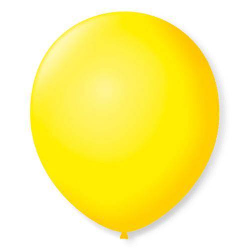 Balão São Roque N°9 C/50un Amarelo Citrino