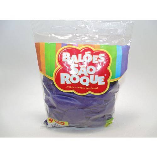 Balão São Roque Nº9 C/ 50 - Roxo Uva