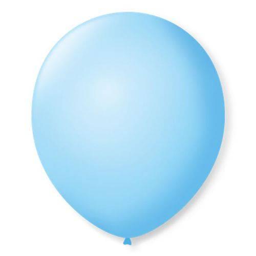 Balão São Roque Número 7 Azul Baby 50 Unidades