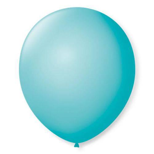 Balão São Roque Número 9 Azul Oceano 50 Unidades