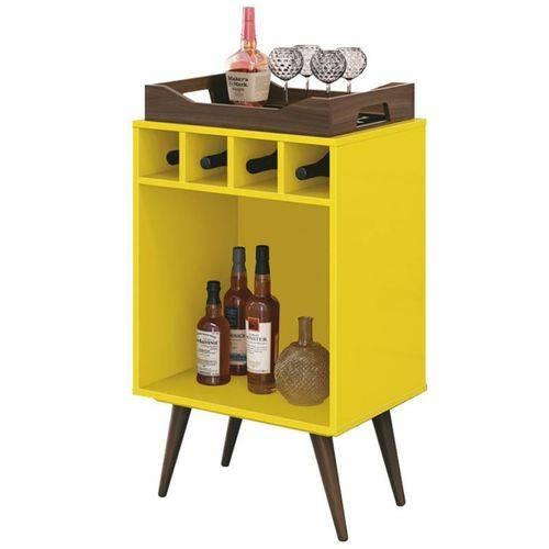 Balcão Adega Bar Pub Amarelo - Edn Móveis
