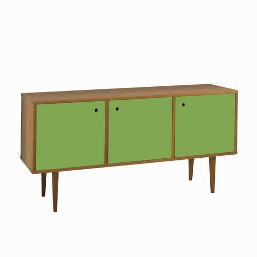 Balcão Buffet 3 Portas Vintage 353 Nogal/Green - Maxima
