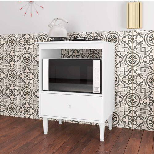 Balcão com Gavetão para Forno e Cooktop 4 Bocas Dubai Art In Móveis Branco