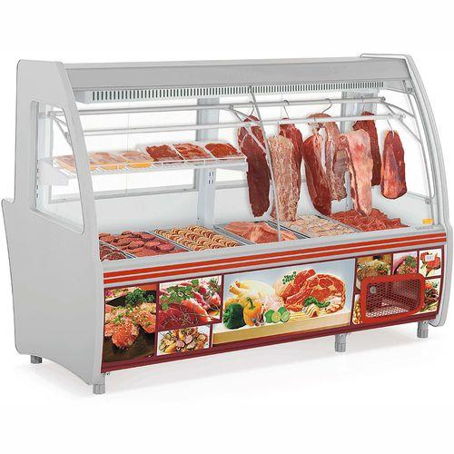 Balcão de Açougue GCPC210 Gelopar Balcão de Carne Cinza 110v