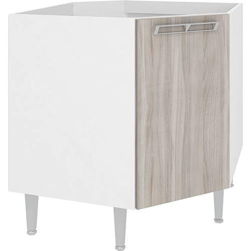 Balcão de Cozinha Art In Móveis Cz610 Canto Oblíquo 1 Porta 1 Prateleira - Branco/Fresno