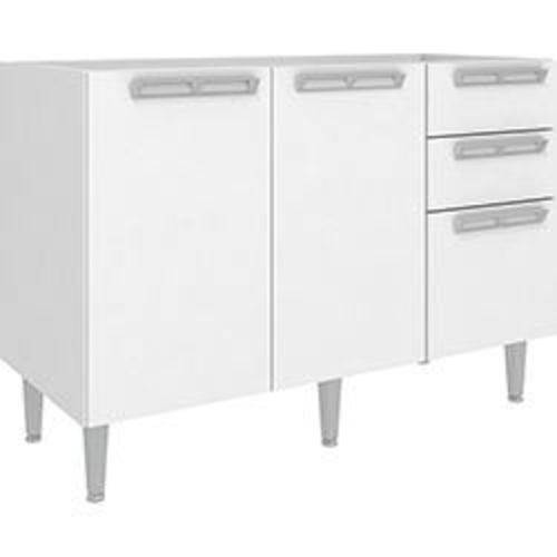 Balcão de Cozinha Art In Móveis Cz614 2 Portas 3 Gavetas 1 Prateleira - Branco/Branco