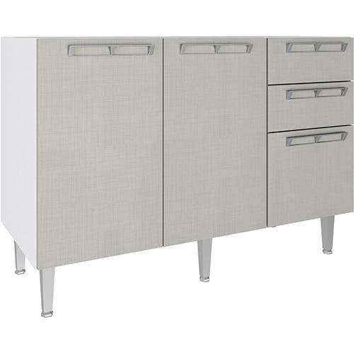 Balcão de Cozinha Art In Móveis CZ614 2 Portas 3 Gavetas e 1 Prateleira - Branco/Nude