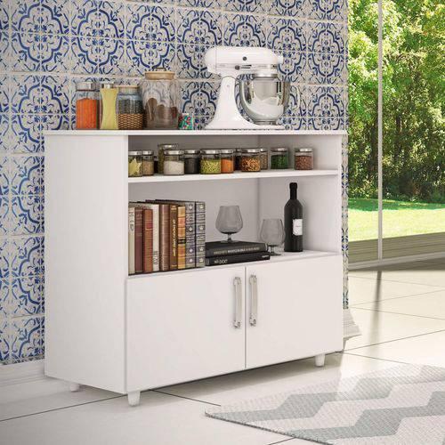 Balcão de Cozinha Multiuso 2 Portas Móveis Percasa Branco
