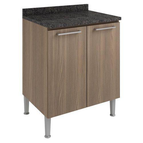 Balcão de Cozinha 2 Portas 70 Cm 0873 Castanho - Genialflex