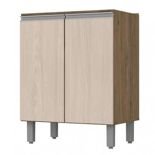 Balcão de Cozinha Sem Tampo 2 Portas 60cm Integra Henn Rústico/Fendi II