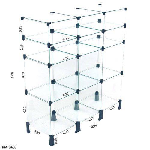 Balcão de Vidro - 0,90 X 1,00 X 0,30