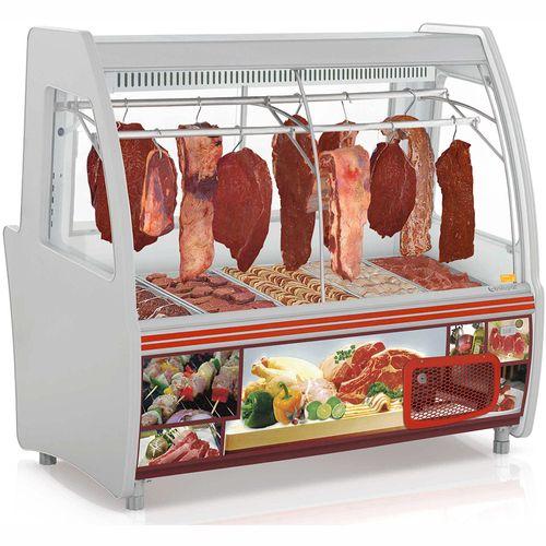 Balcão Frigorífico Açougue GCPC160 Gelopar Balcão de Carne Cinza 110v