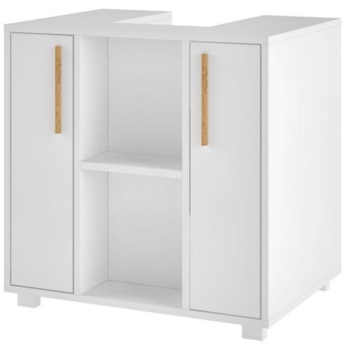Balcão para Banheiro BBN 08 2 Portas BRV Móveis - Branco