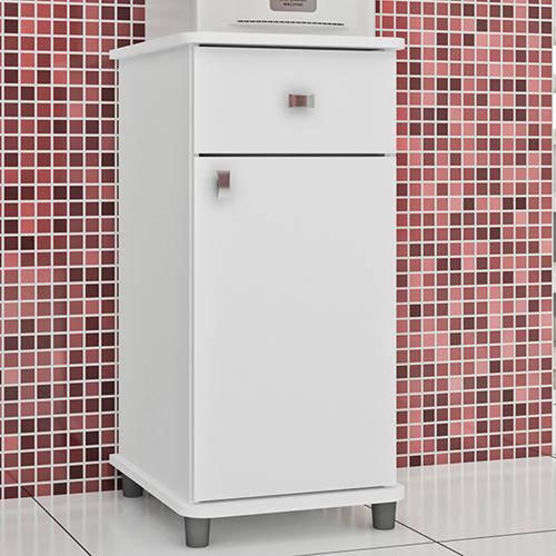 Balcão para Cozinha Multiuso Movelbento Asm153 com Porta e Gaveta – Branco