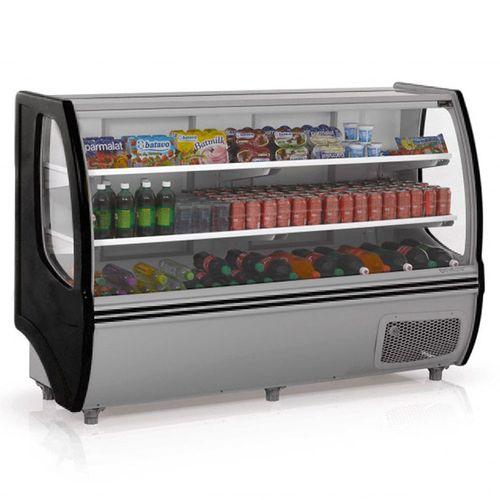 Balcão Refrigerado Gelopar 1,72m Preto Fênix 2 Placas Frias GBDF-175PR - 220V