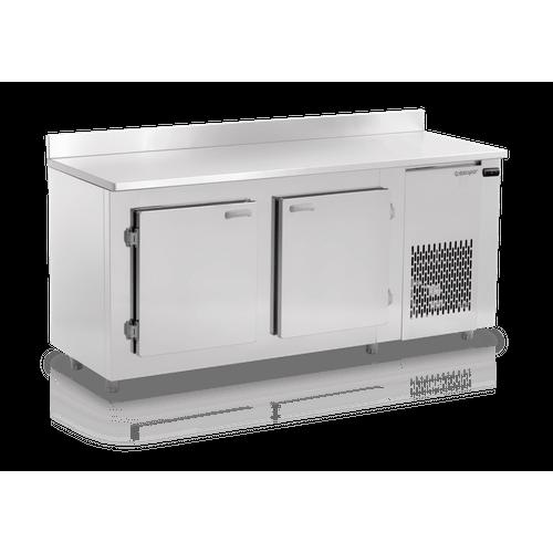 Balcão Refrigerado Gelopar 1,90m de Encosto Sem Cubas GBFE-190 220V