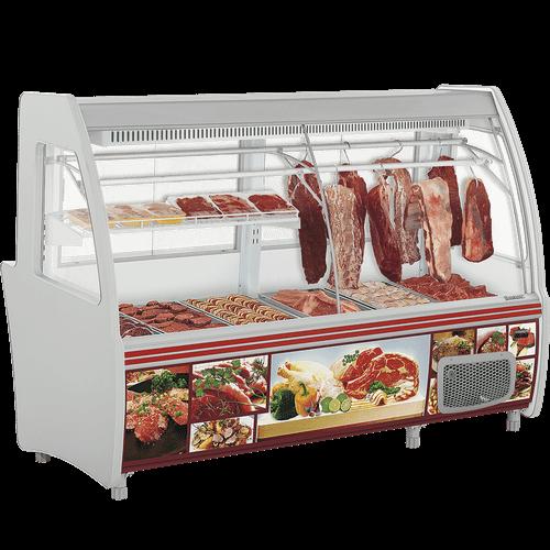 Balcão Refrigerado Gelopar 2,10m Duplex Açougue Vidro Curvo GCPC-210 - 220V