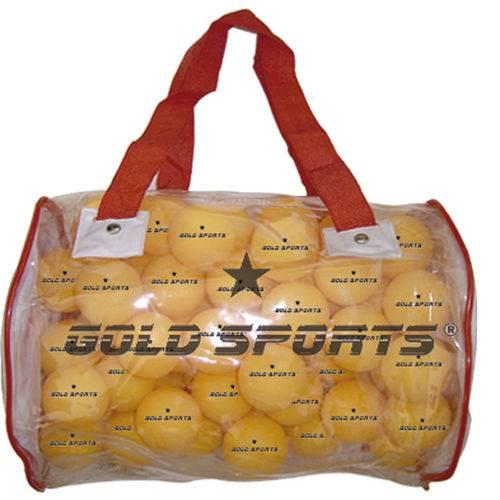 Balde C/ 100 Bolas para Tênis de Mesa 1 Estrela - Gold Sports