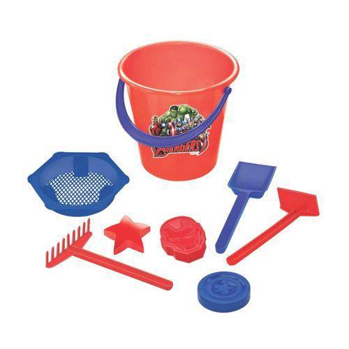Balde de Praia Avengers Vermelho - Lider Brinquedos