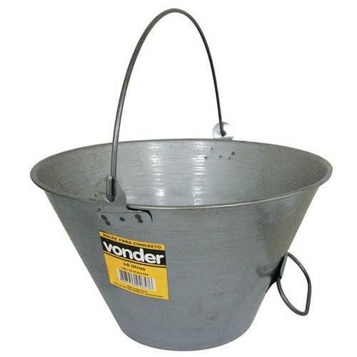 Balde Metalico 10l para Concreto - Vonder