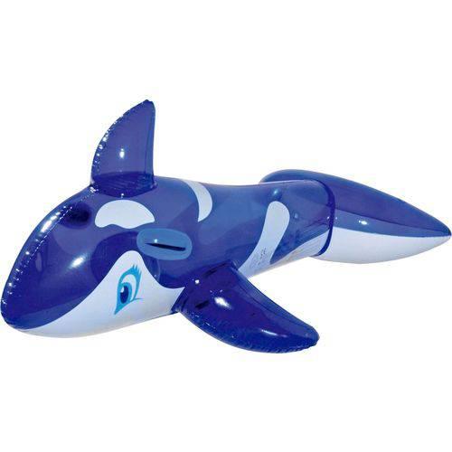 Boia Inflavel Baleia Azul 115cm. Mor