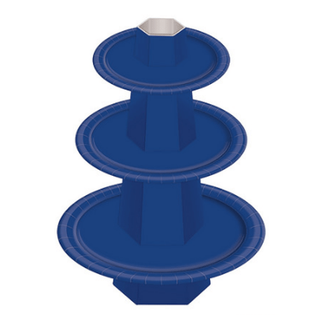 Baleiro 3 Andares Azul Escuro - Unidade