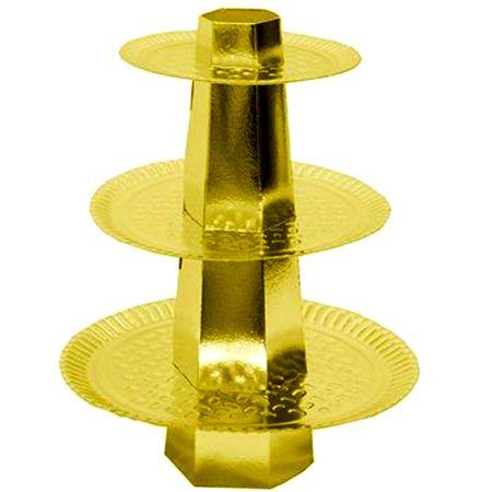 Baleiro 3 Andares Dourado - Unidade