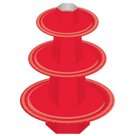Baleiro 3 Andares Vermelho - Unidade