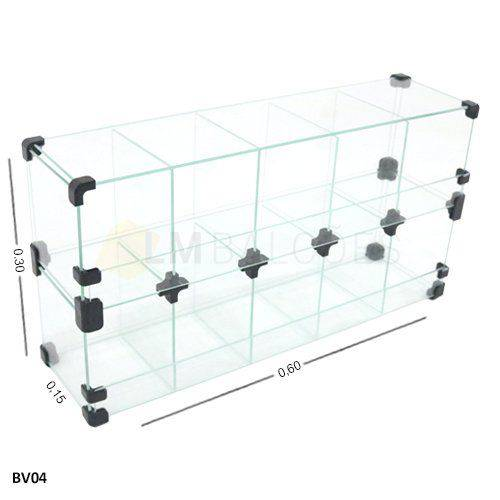 Baleiro de Vidro 60 X 30 X 15