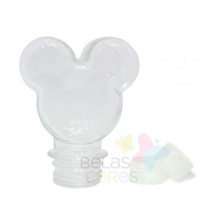 Baleiro/Tubete Mickey 90ml Tampa Transparente - 10 Unidades