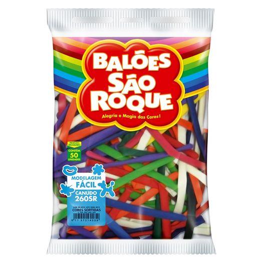 Balões Canudo Imperial Sortido 50un 9650 São Roque S/L