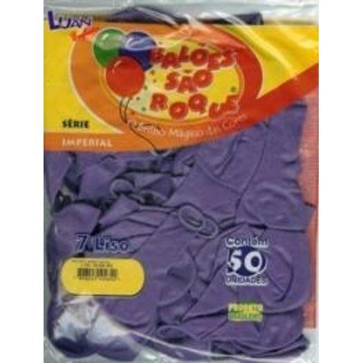 Balões N 7,0 Liso Imperial Púrpura 50un 8150 São Roque Subst Pp057176 S/L