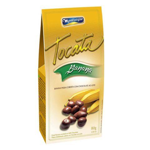 Banana Passa Coberta com Chocolate Tocata 80g - Montevérgine